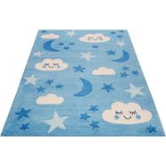 vloerkleed voor de kinderkamer, »lalelu«, smart kids, rechthoekig, hoogte 9 mm, handgetuft blau