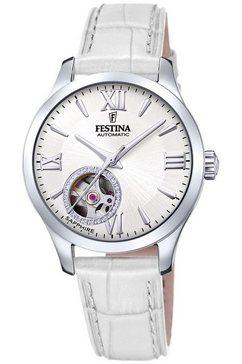 festina automatisch horloge »automatik, f20490-1« wit