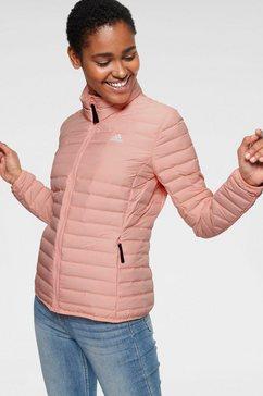 adidas performance gewatteerde jas roze