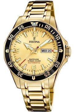 festina automatisch horloge »automatik, f20479-1« goud
