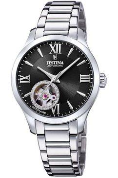 festina automatisch horloge »automatik, f20488-2« zilver
