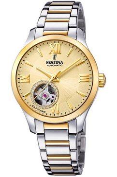 festina automatisch horloge »automatik, f20489-2« zilver