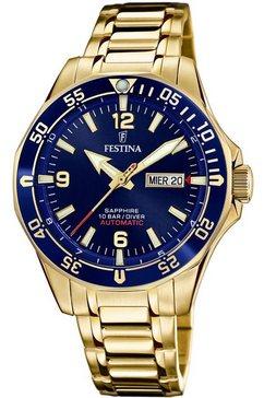 festina automatisch horloge automatik, f20479-2 goud