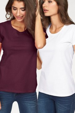 fruit of the loom shirt »lady fit valueweight« (set van 2) wit