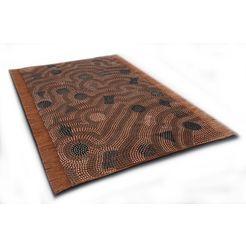 oosters tapijt, »dakan«, die hauskunst, rechthoekig, hoogte 4 mm, met de hand geweven bruin