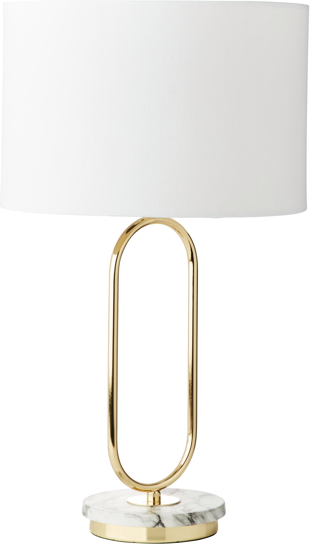 Guido Maria Kretschmer Home&Living tafellamp ZERIA Voet van de tafellamp in marmer-look, witte stof-kap veilig op otto.nl kopen