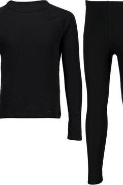 """cmp thermisch hemd """"ski wash set"""", met thermo onderbroek) zwart"""