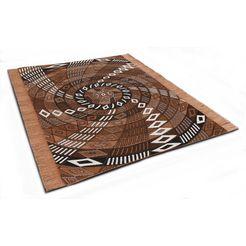 oosters tapijt, »funun funun«, die hauskunst, rechthoekig, hoogte 4 mm, met de hand geweven bruin