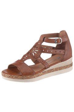 remonte sandalen in een trendy etno-look bruin