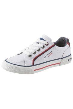 tom tailor sneakers met merkopschrift wit