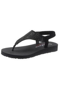 skechers sandalen »meditation - rock crown« zwart