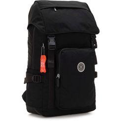 kipling laptoprugzak »yantis, brave black« zwart