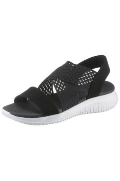 skechers sandalen »ultra flex - neon star« zwart