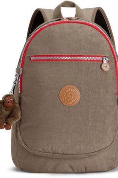 kipling schoolrugzak »clas challenger, true beige« bruin