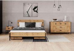inosign bed »aubetin« beige