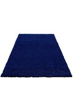 home affaire hoogpolig vloerkleed viva geweven, woonkamer blauw