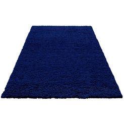 hoogpolig vloerkleed, home affaire, »viva«, hoogte 45 mm, geweven blau