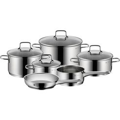 wmf pannenset »astoria« (set, 10-tlg.) zilver