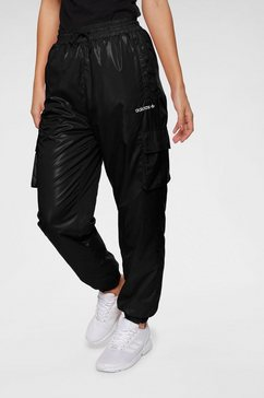 adidas originals cargobroek »shiny windwear pant« zwart