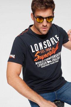 lonsdale t-shirt »bredon« blauw