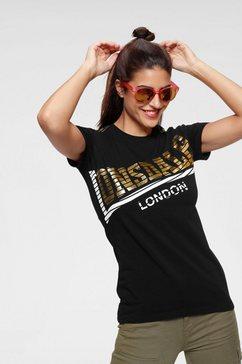 lonsdale t-shirt »langrick« zwart