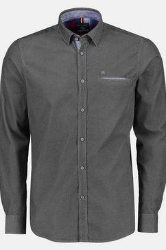 lerros overhemd met lange mouwen grijs