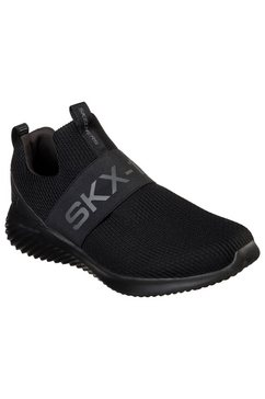 skechers slip-on sneakers »bounder« zwart