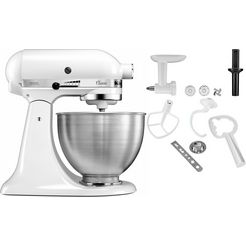 kitchenaid keukenmachine classics 5k45ss ewh, incl. extra accessoires ter waarde van ca. € 90,- wit
