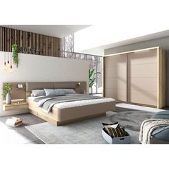 holzzone slaapkamerserie »capri« beige