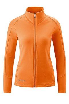 maier sports fleecejack »cicerbita« oranje