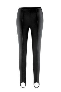 maier sports skibroek sonja slim fit broek met voetbandjes, elastisch, elegant model zwart