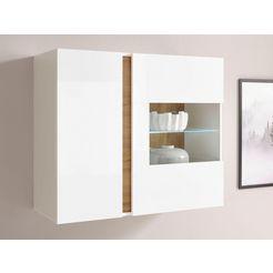 inosign hangvitrine clair hangende vitrinekast 20 hoogte 83 cm wit