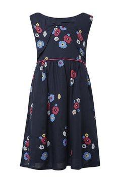 tom tailor jurk in a-lijn »kleid mit blumenmuster« blauw