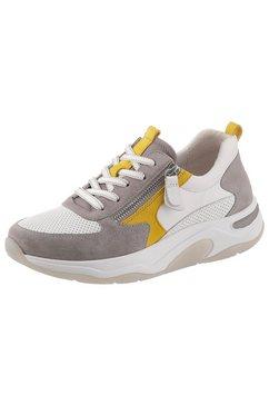 gabor rollingsoft sneakers met sleehak wit