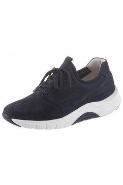 gabor rollingsoft sneakers met sleehak blauw