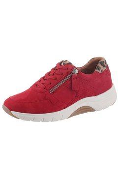 gabor rollingsoft sneakers met sleehak rood