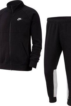 nike sportswear joggingpak nike sportswear men's fleece tracksuit (set, 2-delig) zwart