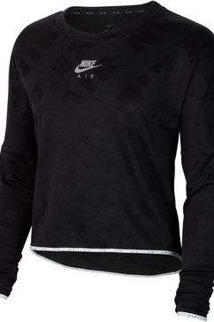 nike runningshirt »nike air women's long-sleeve running« zwart