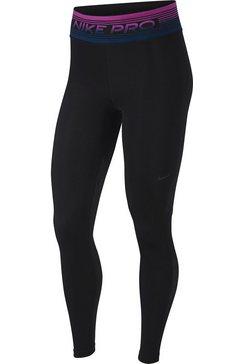 nike functionele tights »nike pro women's printed tights« zwart