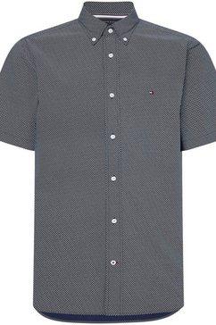 tommy hilfiger overhemd met korte mouwen mini print shirt blauw