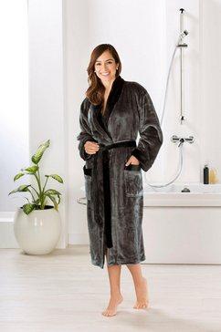 goezze uniseks badjas seidenfeeling met een nobele glans (1 stuk) grijs