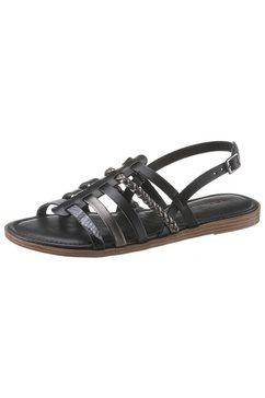 tamaris romeinse sandalen »isla« schwarz
