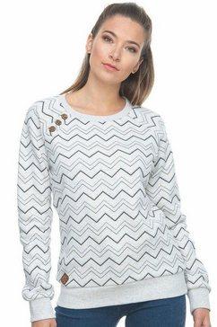 ragwear sweatshirt »daria zig zag« wit