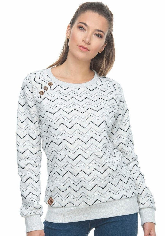 Ragwear sweatshirt »DARIA ZIG ZAG« - gratis ruilen op otto.nl