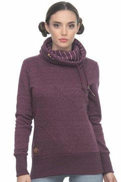 ragwear sweatshirt »viola« rood