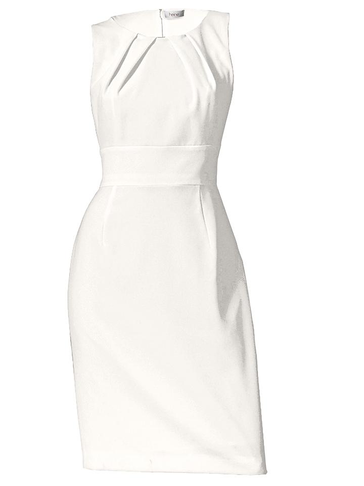 witte tricot jurk