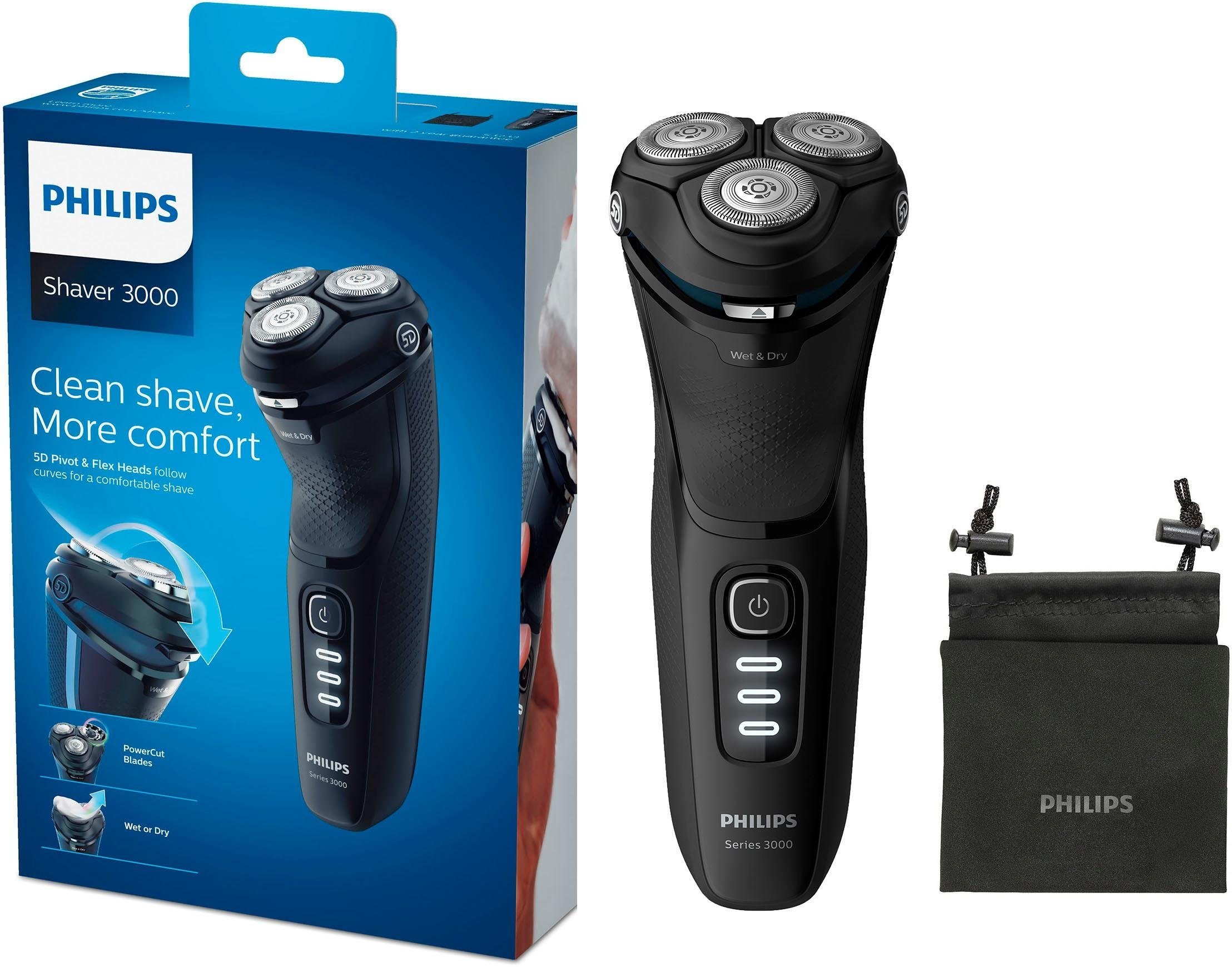 Philips elektrisch scheerapparaat S3233/52 Series 3200 met powercut-lemmeten voordelig en veilig online kopen