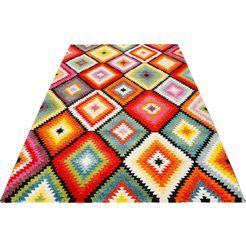 wecon home vloerkleed »kelim remix«, wecon home, rechthoekig, hoogte 13 mm, machinaal geweven multicolor