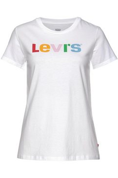 levi's shirt met ronde hals »perfect tee« wit