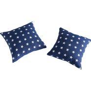 vialman home kussenovertrekken yolanda met hoogwaardig sterpatroon (2 stuks) blauw